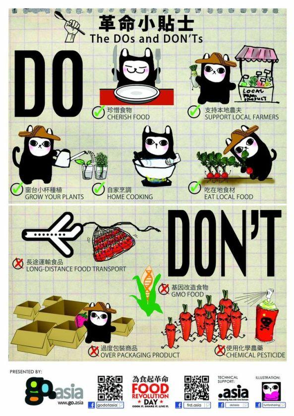 Food Revolution HK, Do & Don't