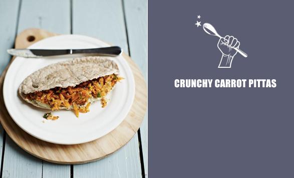 Crunchy-carrot-pittas