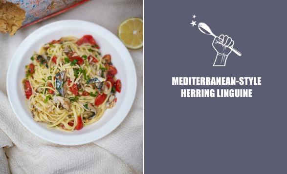 Mediterranean-style-herring-linguine