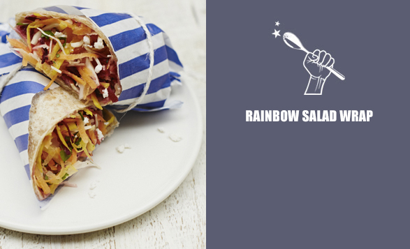 Rainbow-salad-wrap