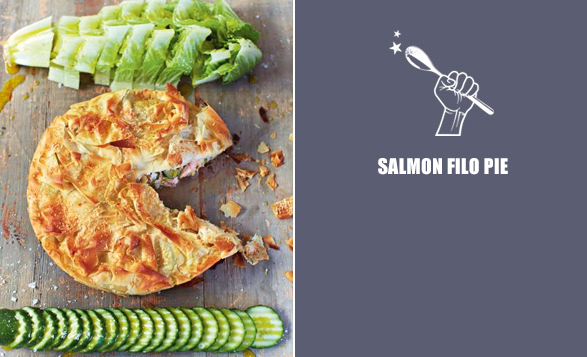 Salmon-filo-pie