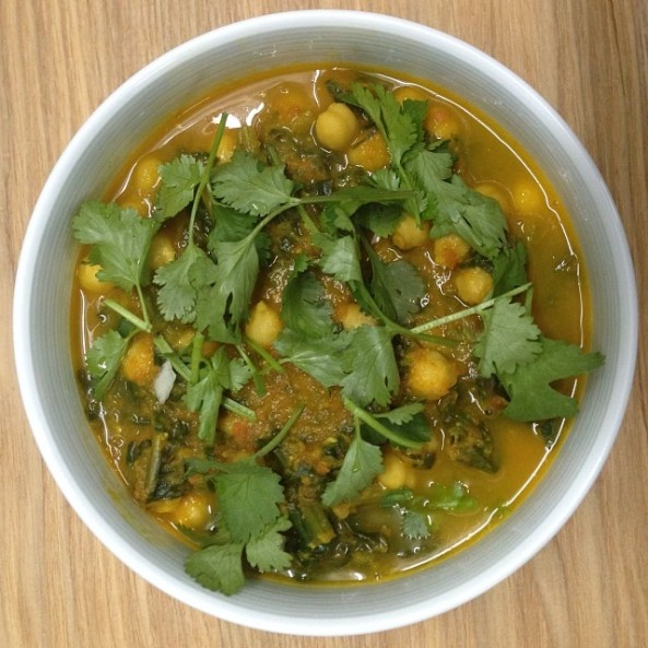 Spinach Chickpea Currey