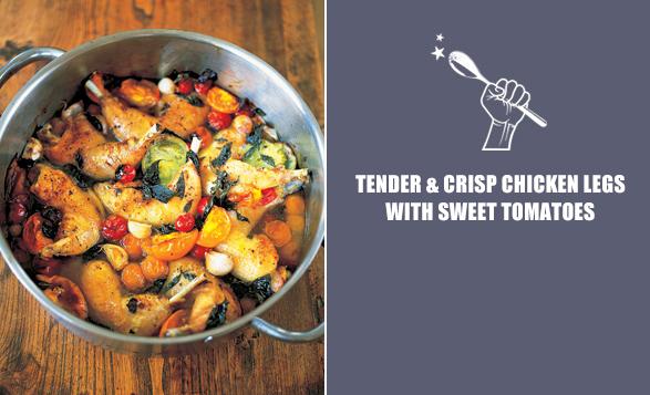 Tender-&-Crisp-Chicken-Legs-with-Sweet-Tomatoes