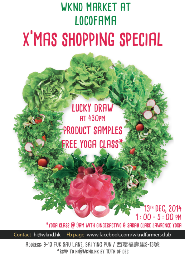 WKND Xmas Market this Saturday at Locofama