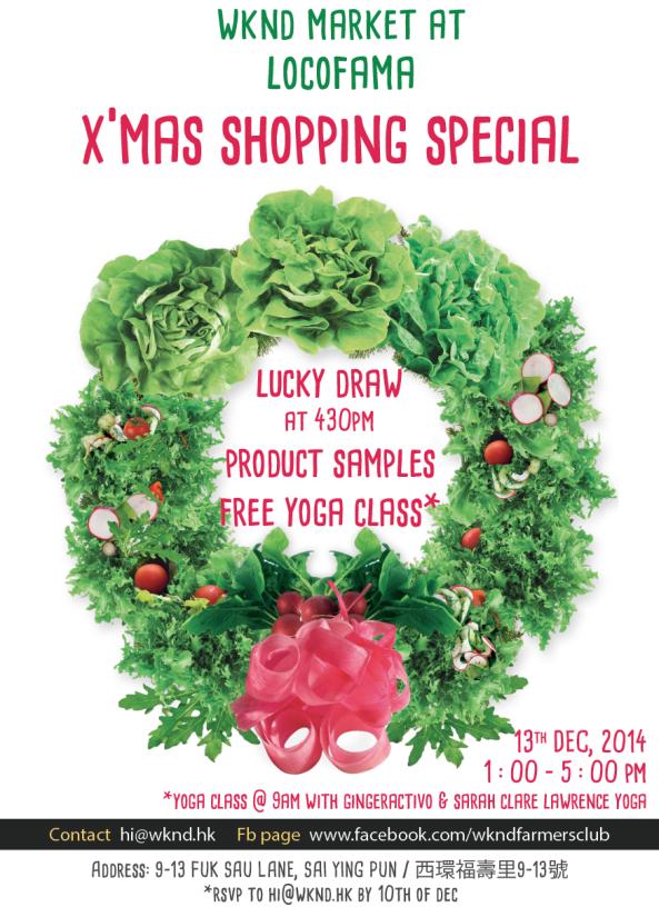 WKND Xmas Market this Saturday at Locofama