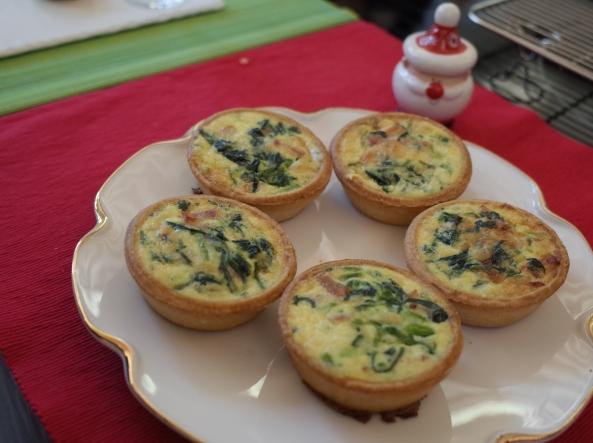 Spinach Bascon Quiche
